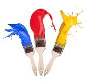 Cepillos coloreados Imágenes de archivo libres de regalías