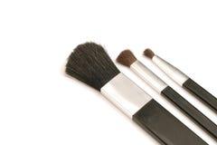 Cepillos cosméticos Fotografía de archivo libre de regalías