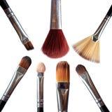Cepillos cosméticos Imagenes de archivo