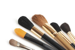 Cepillos cosméticos Imagen de archivo libre de regalías