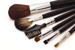Cepillos cosméticos foto de archivo libre de regalías