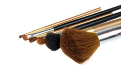 Cepillos cosméticos foto de archivo
