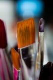 Cepillos de Atrtist del maquillaje Fotografía de archivo