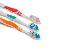 Cepillos de dientes Foto de archivo libre de regalías