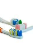 Cepillos de dientes Imágenes de archivo libres de regalías