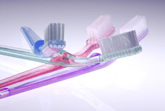 Cepillos de dientes imagen de archivo libre de regalías