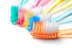 Cepillos de dientes Imagenes de archivo
