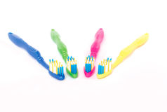 Cepillos de dientes coloreados Imágenes de archivo libres de regalías