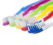 Cepillos de dientes coloridos Fotografía de archivo libre de regalías