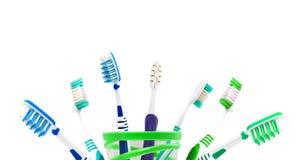 Cepillos de dientes de Colorfull Foto de archivo