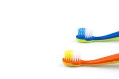 Cepillos de dientes del color Imagen de archivo libre de regalías