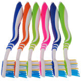 Cepillos de dientes (trayectoria de recortes) Foto de archivo libre de regalías