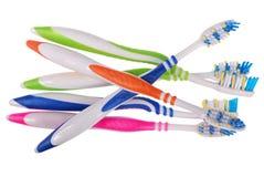 Cepillos de dientes (trayectoria de recortes) Imágenes de archivo libres de regalías