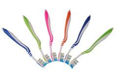 Cepillos de dientes (trayectoria de recortes) Imagen de archivo libre de regalías