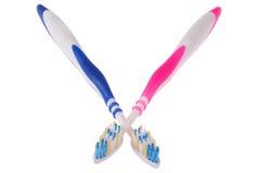 Cepillos de dientes (trayectoria de recortes) Imagen de archivo