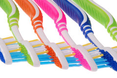 Cepillos de dientes (trayectoria de recortes) Imagenes de archivo