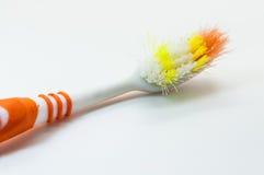 Cepillos de dientes viejos Imagen de archivo libre de regalías