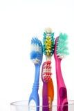 Cepillos de dientes viejos Fotografía de archivo libre de regalías
