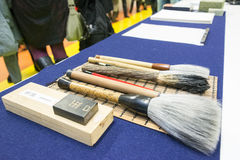 Cepillos de la caligrafía Imagenes de archivo