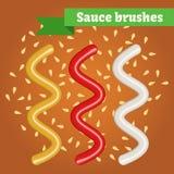 Cepillos de la salsa del vector Imagenes de archivo