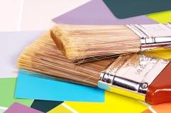 Cepillos de pintura fotos de archivo libres de regalías