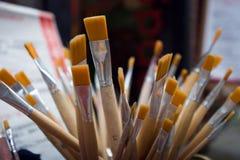 Cepillos de pintura Imágenes de archivo libres de regalías