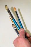 Cepillos de pintura Imagen de archivo libre de regalías