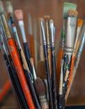 Cepillos de pintura Imagen de archivo