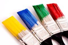 Cepillos de pintura coloridos Fotografía de archivo libre de regalías