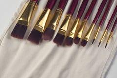 Cepillos de pintura de la bella arte Imagen de archivo