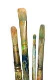 Cepillos de pintura de petróleo Imagen de archivo