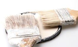 Cepillos de pintura usados Imagen de archivo
