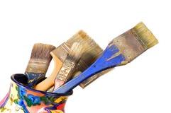 Cepillos del artista Foto de archivo libre de regalías