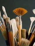 Cepillos del artista Fotografía de archivo libre de regalías