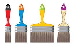 Cepillos del color Imágenes de archivo libres de regalías