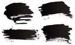Cepillos del grunge del vector Fotos de archivo