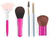 Cepillos del maquillaje Imagen de archivo libre de regalías