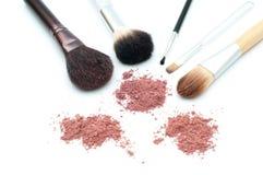 Cepillos del maquillaje Fotos de archivo libres de regalías