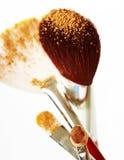 Cepillos del maquillaje Imagen de archivo