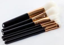 Cepillos del maquillaje Imágenes de archivo libres de regalías