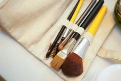 Cepillos del maquillaje Imagenes de archivo