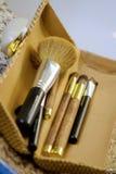 Cepillos del maquillaje fotografía de archivo