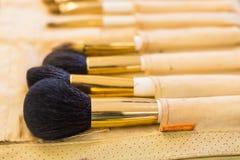 Cepillos del maquillaje, primer Fotos de archivo libres de regalías