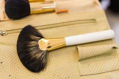Cepillos del maquillaje, primer Imagenes de archivo