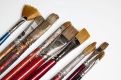Cepillos del pintor Fotos de archivo libres de regalías