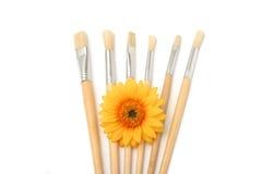 Cepillos del pintor Imagen de archivo libre de regalías