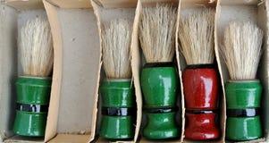 Cepillos del ` s del peluquero Fotos de archivo libres de regalías