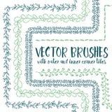 Cepillos del vector con las tejas de la esquina internas y externas libre illustration