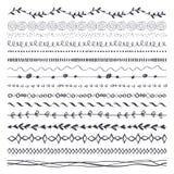 Cepillos dibujados mano de la tinta libre illustration