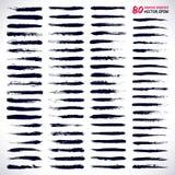 80 cepillos dibujados mano del grunge del vector Fotografía de archivo libre de regalías